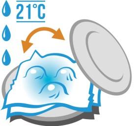 Coloca los platos en algún lugar cálido (21º C) y alejado de luz directa.