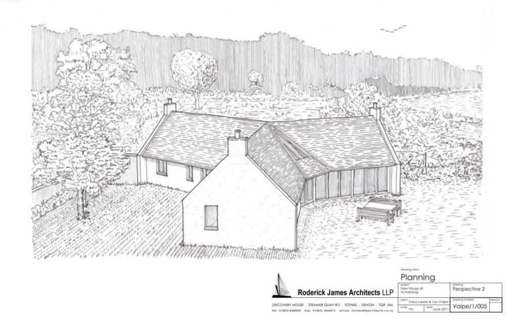 Plans for new hemp-based dwellings in the Scottish Highlands (© achabeag.co.uk)