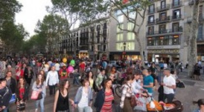 Las Ramblas in Barcelona is frequented by street dealers of cannabis and hashish (Thomas Quine)