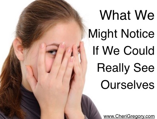 What We Might Notice If We Could Really See Ourselves