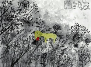 The Invention of Animals, a painting by John Lurie