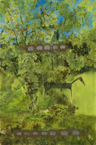 Twelve Bottoms Against Nature, a painting by John Lurie