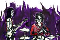 Jon Spencer Blues Explosion drawing by David West