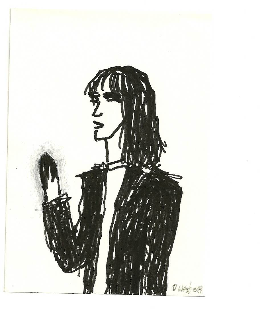 Patti Smith drawing by David West