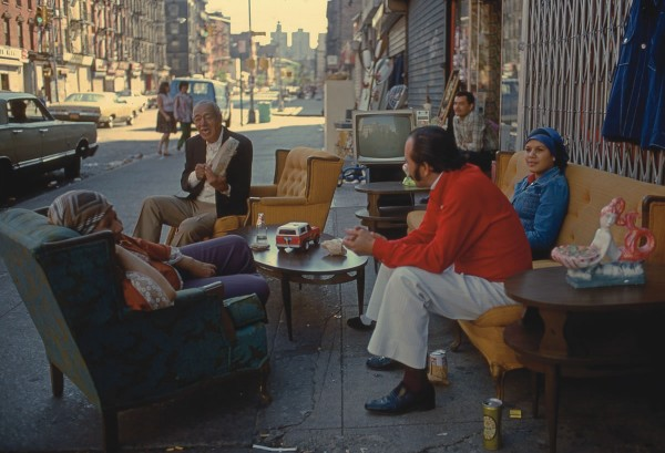 Living in the Streets, Ave. C, 1978, photograph by Philip Pocock