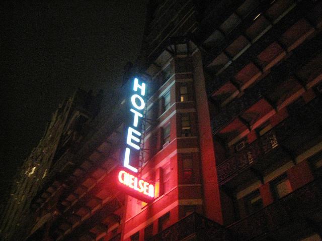 Chelsea Hotel, photograph by Chris Goldberg
