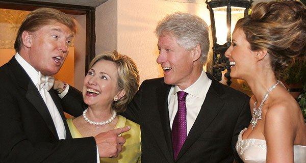trump wedding clintons