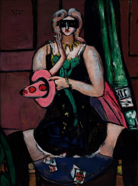 Max Beckmann Carnival Mask, Green, Violet and Pink