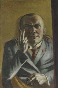 Max Beckmann Self Portrait Cigarette