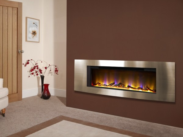 Celsi Electriflame VR Vichy Inset Wall-Mounted Electric Fire Champagne