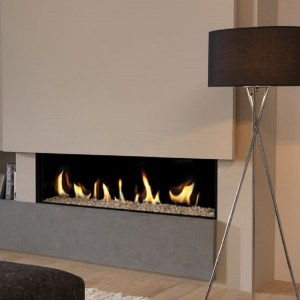 Deluxe 12 Frameless Balanced Flue HE Edge Gas Fire