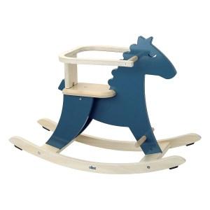 Cheval à bascule et arceau Hudada Bleu
