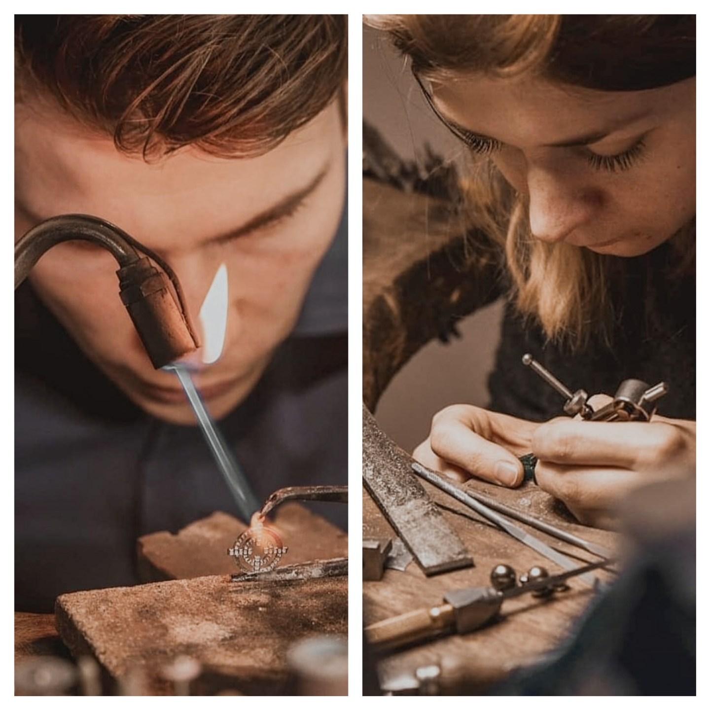 Portrait de Svetlana et Richard, fondateurs de l'Atelier Joaillier à Lyon