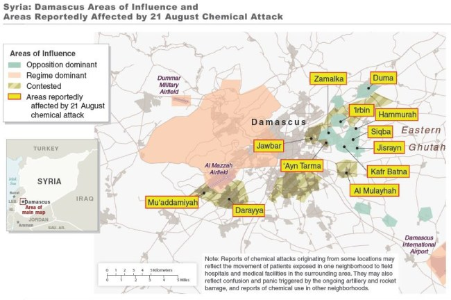map of Damascus attack precise