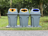 Recycled Waste Bins
