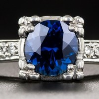 A Gorgeous .95 Carat Sapphire and Diamond Vintage Engagement Ring.