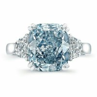 A Gorgeous Blue Diamond and Diamond Ring