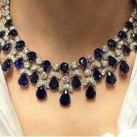 Spectacular Sapphire Diamond Necklace