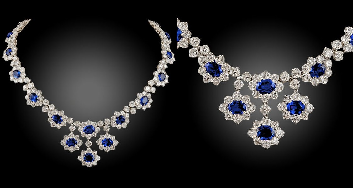 Harry Winston Sapphire and Diamond Necklace