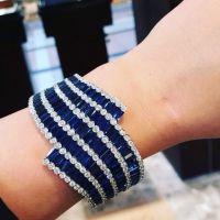 Gorgeous Sapphire and Diamond Bracelet