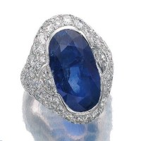 Sapphire and Diamond Ring, Bulgari, 1960s