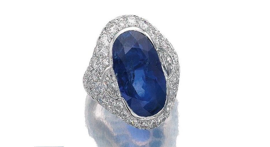 Sapphire and Diamond Ring, Bulgari, 1960s