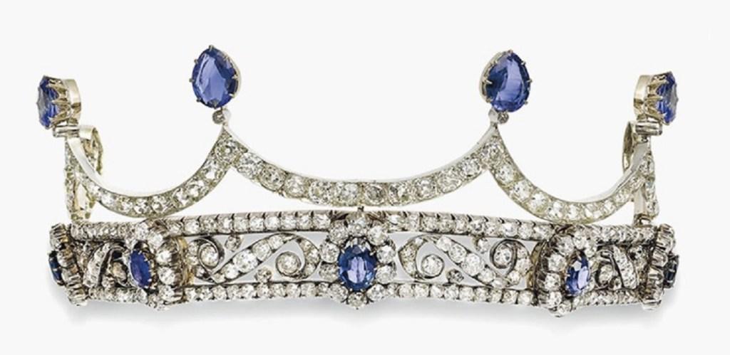 A 19th century sapphire and diamond tiara