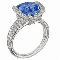 Chaumet 5.78ct Ceylon Sapphire and Diamond Ring