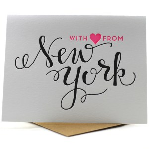 Hand drawn script From New York with Love