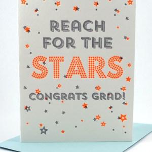 Reach for the stars, congrats graduate card