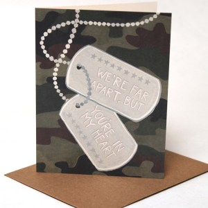 we're far apart but you're in my heart, military card
