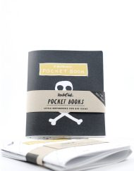 Mini jotter notebook. Skull and crossbones