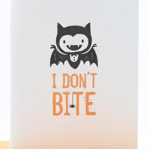 Halloween card, I don't bite