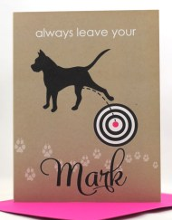 always leave your mark encouragement card