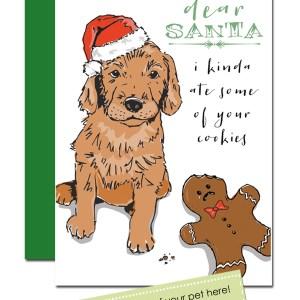 Dear Santa custom pet holiday cards