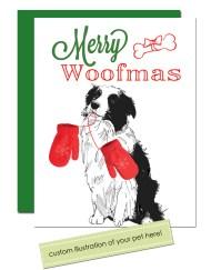 custom pet holiday card