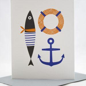 pretty nautical card