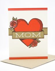 mom tattoo mother's day card
