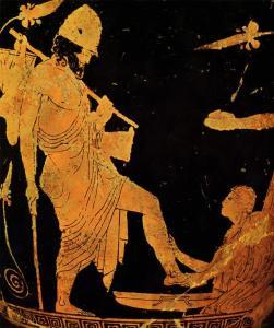 Odysseus and Eurykleia
