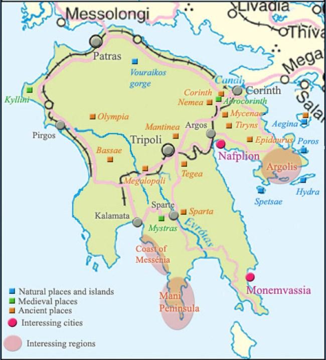 map-peloponnese