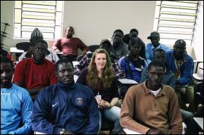 """""""Ser francesa e ter a pele branca, facilitou a minha adaptação aqui Caxias do Sul como imigrante"""", Solveig Dufrène, educadora social."""