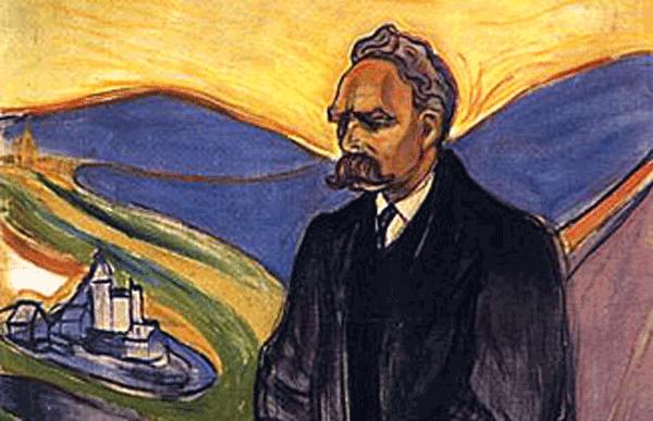 """Quadro de Edvard Munch, """"Friedrich Nietzsche"""" (1906)."""