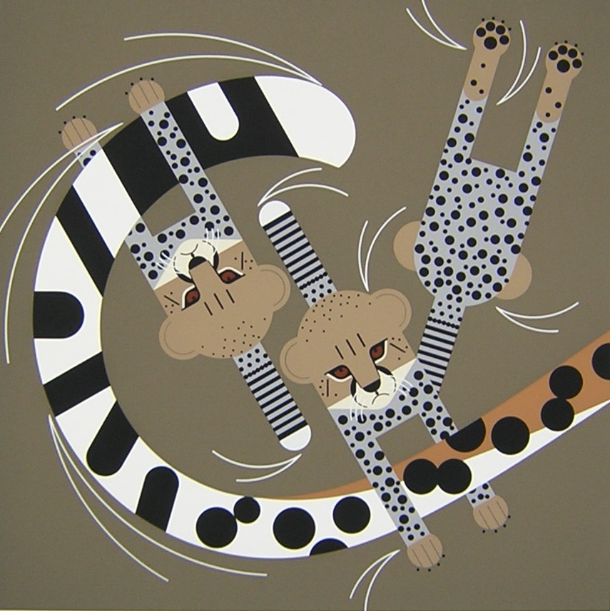 """""""Convivial Pursuit,"""" by Charley Harper"""