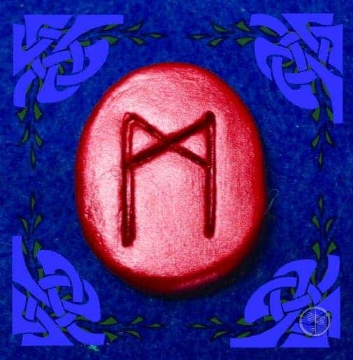 Mannaz Rune Stone Meaning