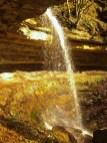 La cascata dell'Abbraccio nella luce della sera