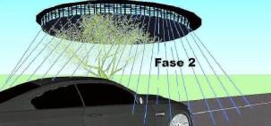 Ricostruzione dell'UFO apparsa su La Nazione, 16 Aprile 2014