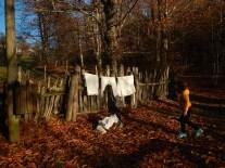 La Befana è pulita, e stende il suo bucato nel bosco