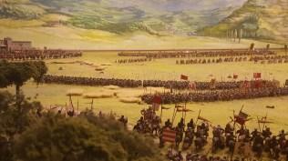 Il castello di Poppi, il modellino della battaglia di Campaldino