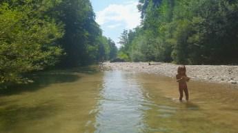 Dove il torrente si allarga diventa placido e tranquillo