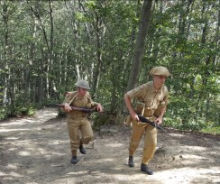 Soldati inglesi, che in realtà presidiavano il fronte più ad Est